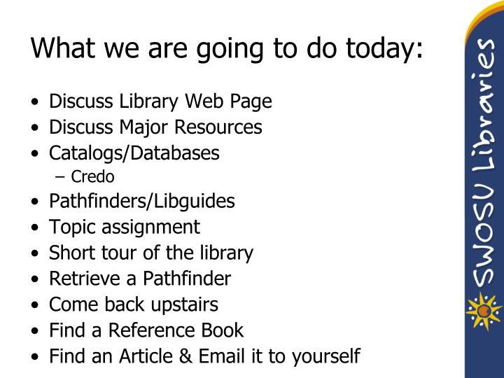 credo assignment