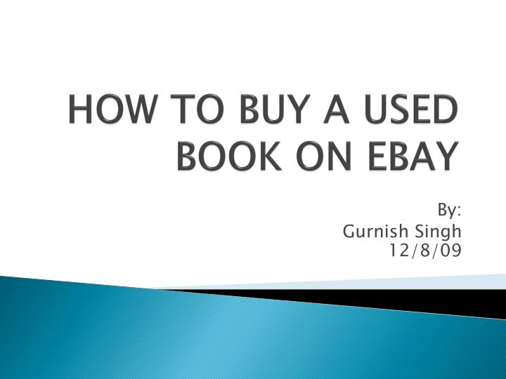 how to buy a used book on ebay n.