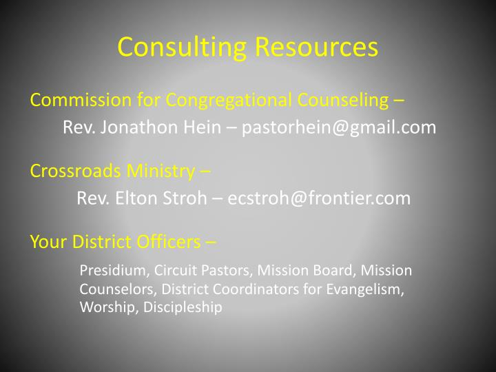 Consulting Resources
