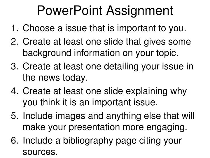powerpoint assignment n.