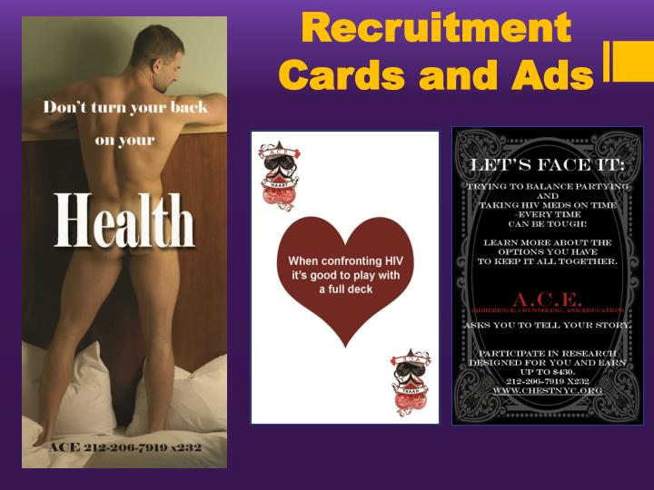 Recruitment Cards and Ads