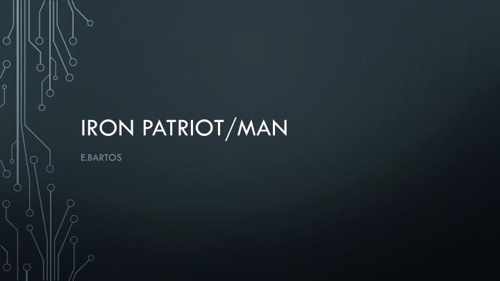 iron patriot man