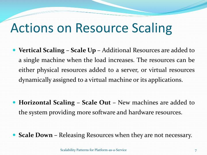 Actions on Resource Scaling