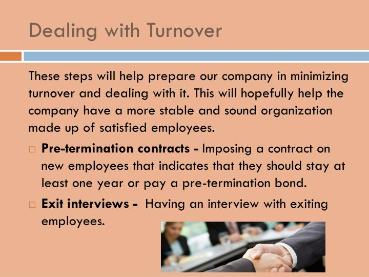 Dealing with Turnover