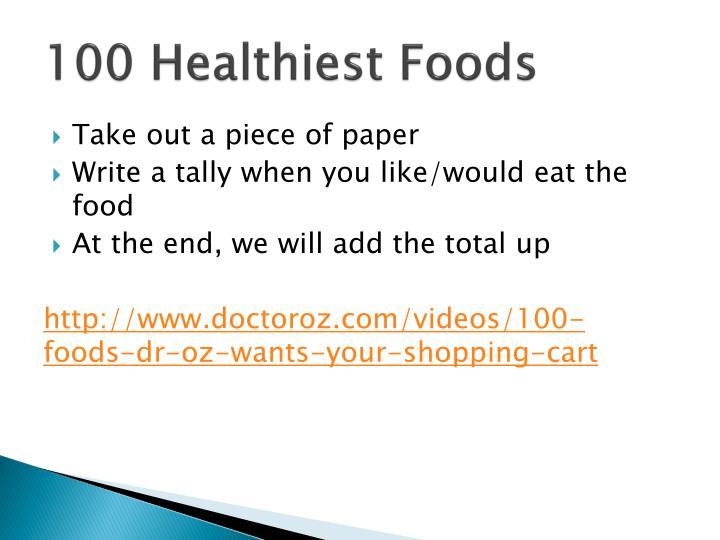 100 Healthiest Foods