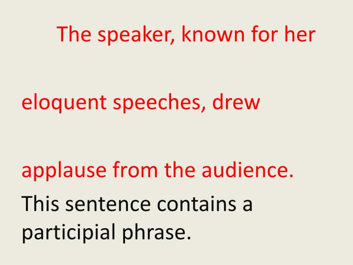 The speaker, known for her