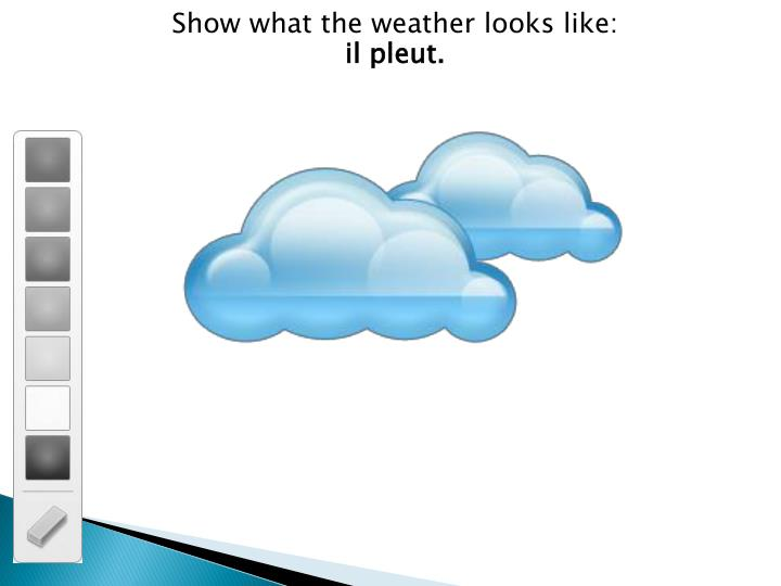 Show what the weather looks like: