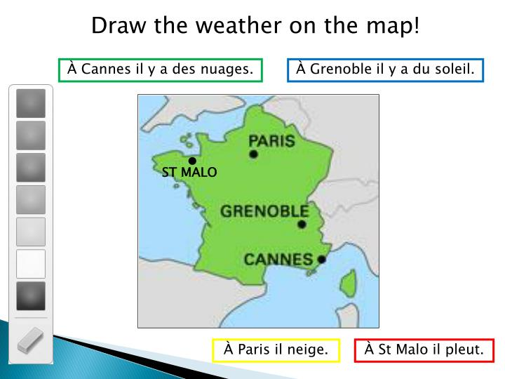 Draw the weather on the map!