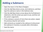 adding a submacro