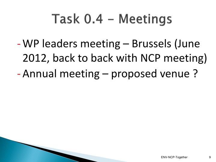 Task 0.4 - Meetings