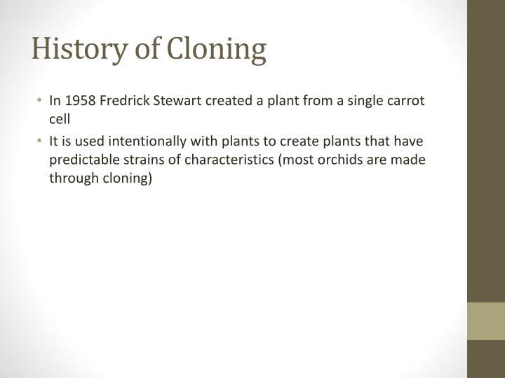History of Cloning
