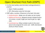 open shortest first path ospf