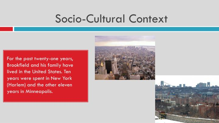 socio cultural presentation Cultural mediation is the process of building bridges between the cultural and  social realms, and the building of new relationships between the political, cultural .