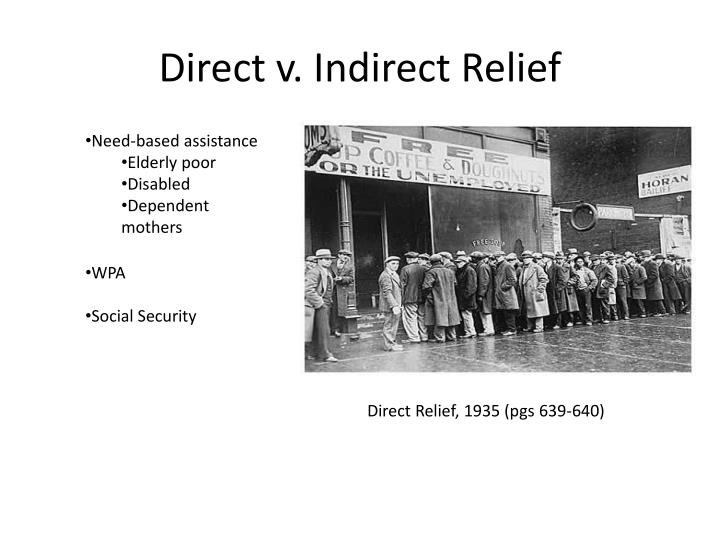 direct v indirect relief n.