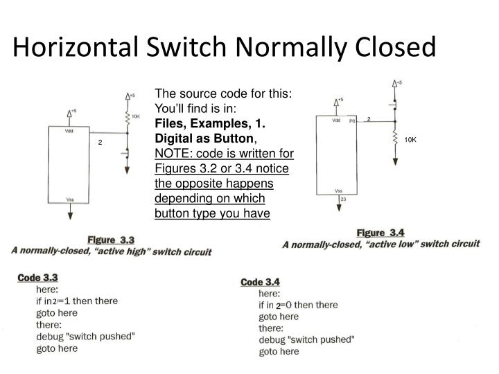 Horizontal Switch Normally Closed