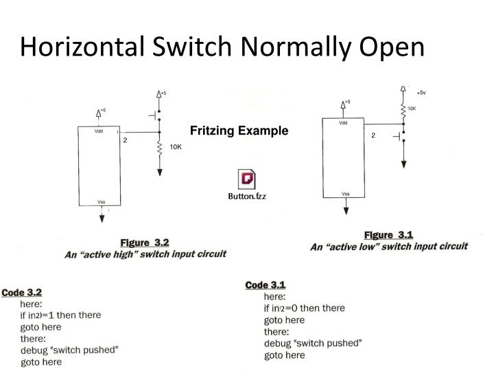 Horizontal Switch Normally Open