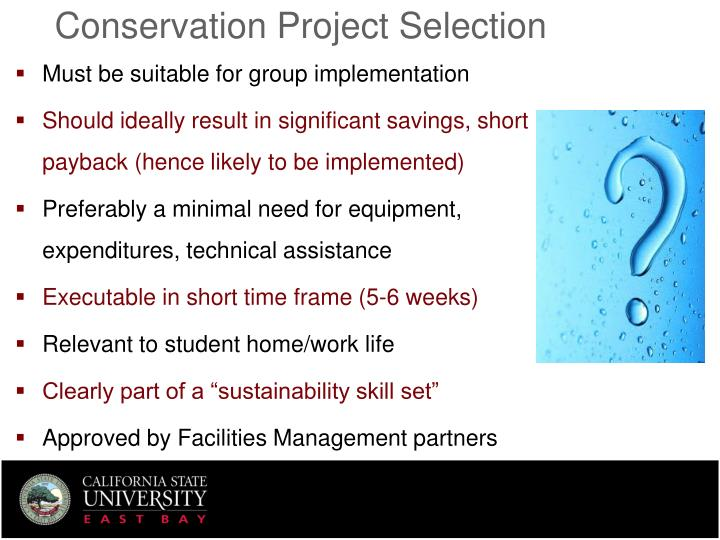 Conservation Project Selection