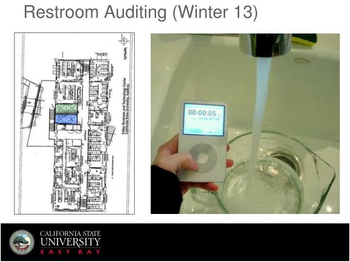 Restroom Auditing (Winter 13)
