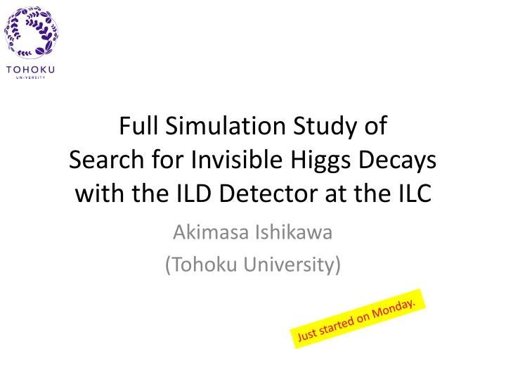full simulation study of search for invisible higgs decays with the ild detector at the ilc