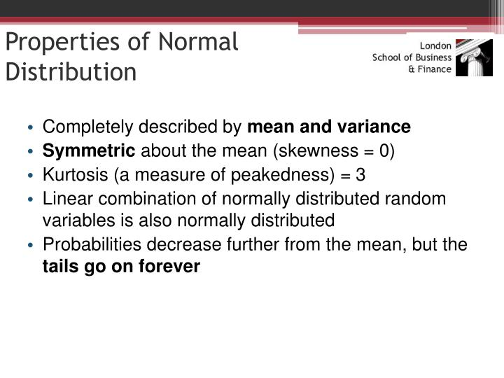 Properties of Normal Distribution