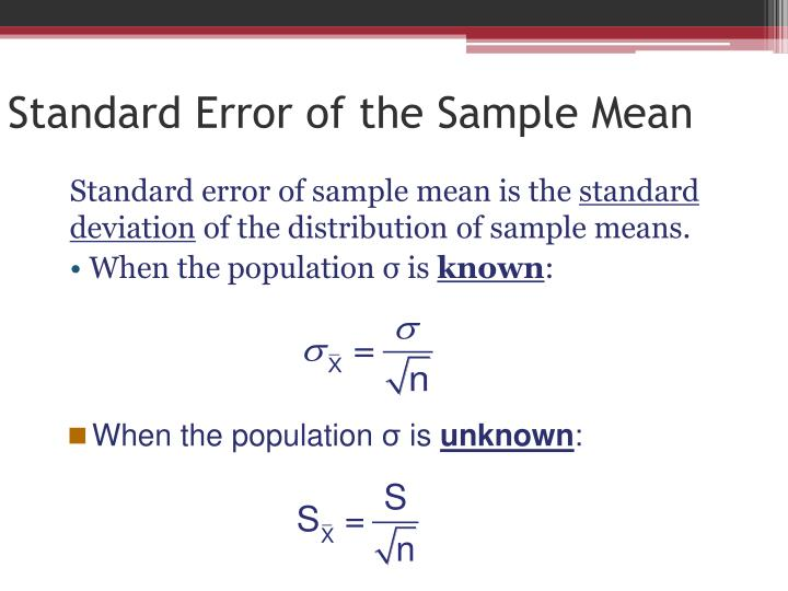 Standard Error of the Sample Mean