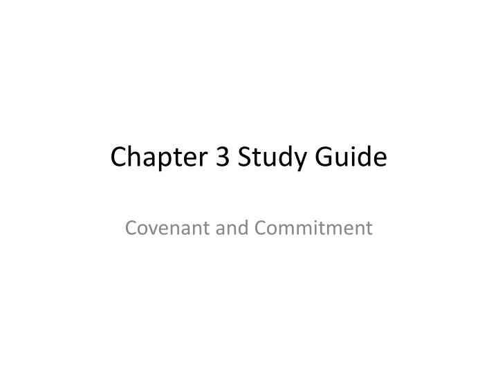 chapter 3 study guide n.