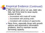 empirical evidence continued2