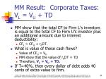 mm result corporate taxes v l v u td