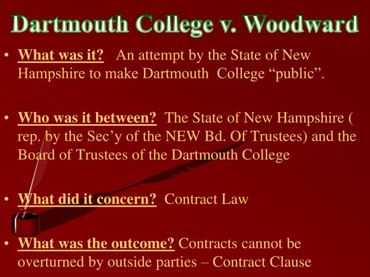 Dartmouth College v. Woodward