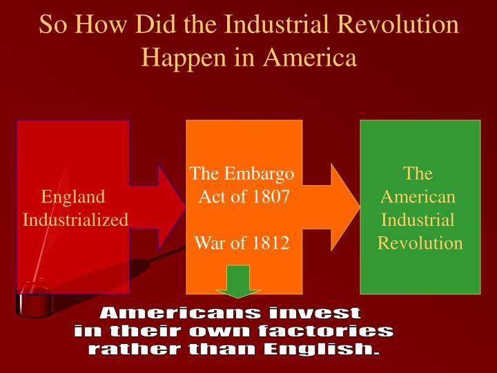 So How Did the Industrial Revolution