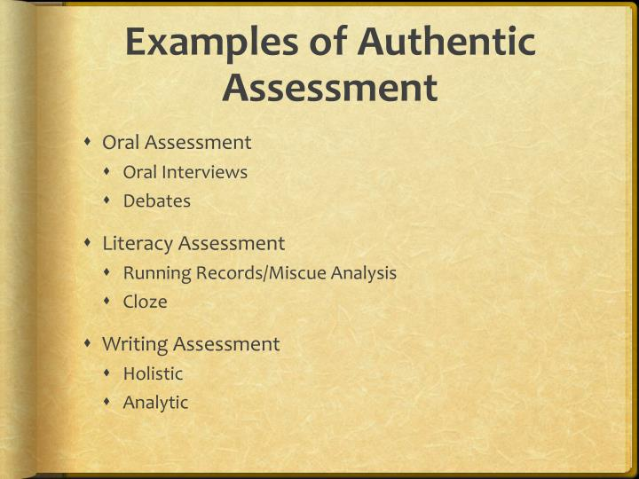 ppt - authentic assessment powerpoint presentation - id:2680762