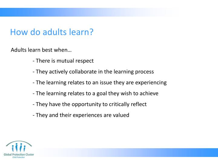 How do adults learn?
