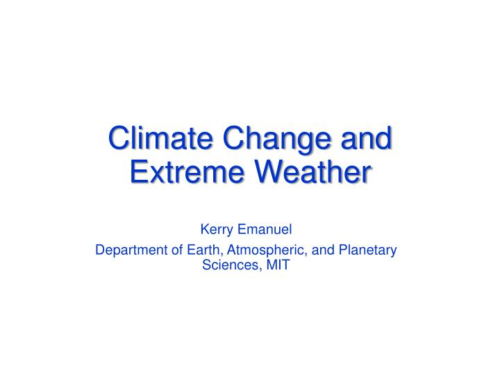 climate change and extreme weather n.
