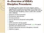 4 overview of idea s discipline procedures