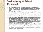 5 authority of school personnel