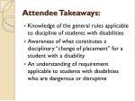 attendee takeaways
