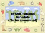 staar tutoring schedule to be announced