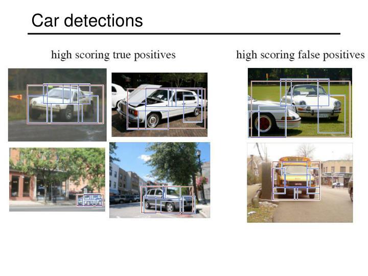 Car detections