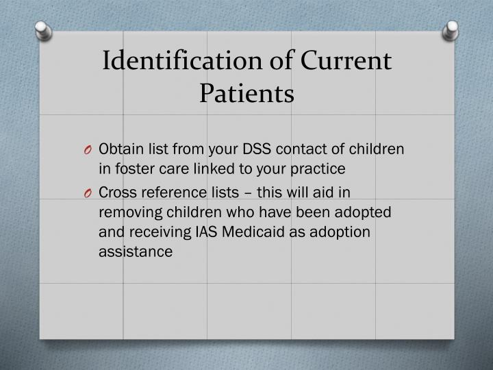 Identification of Current Patients