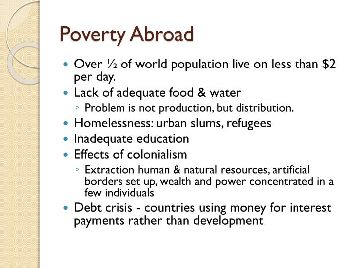 Poverty Abroad