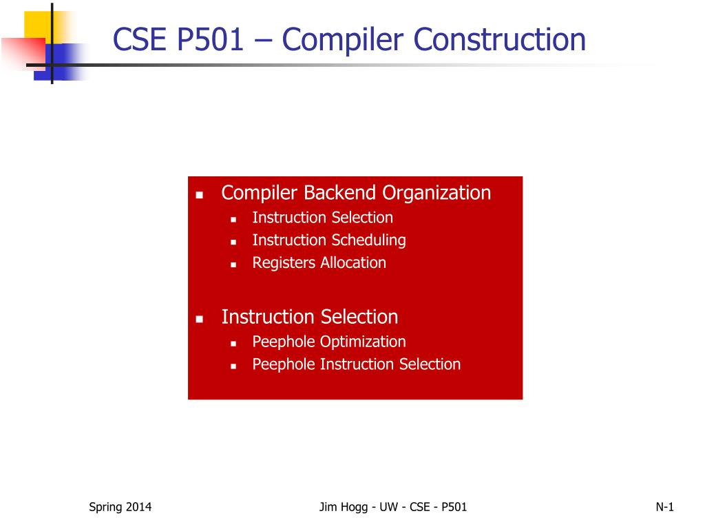 Ppt Cse P501 Compiler Construction Powerpoint Presentation Free Download Id 2681445
