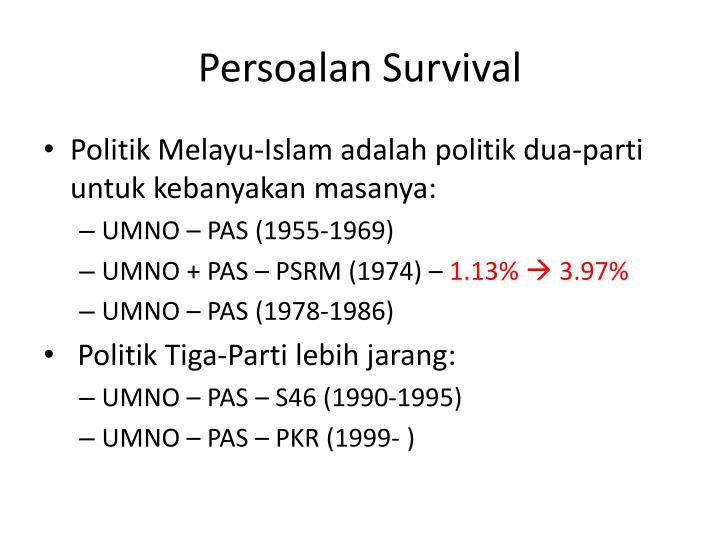 Persoalan survival