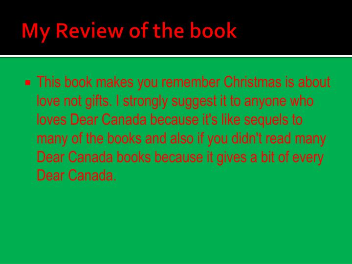 My Review of the book