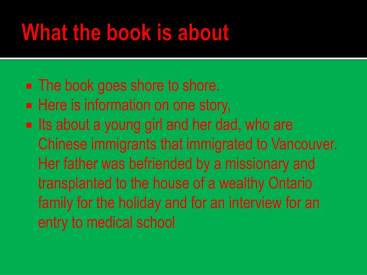 What the book is about