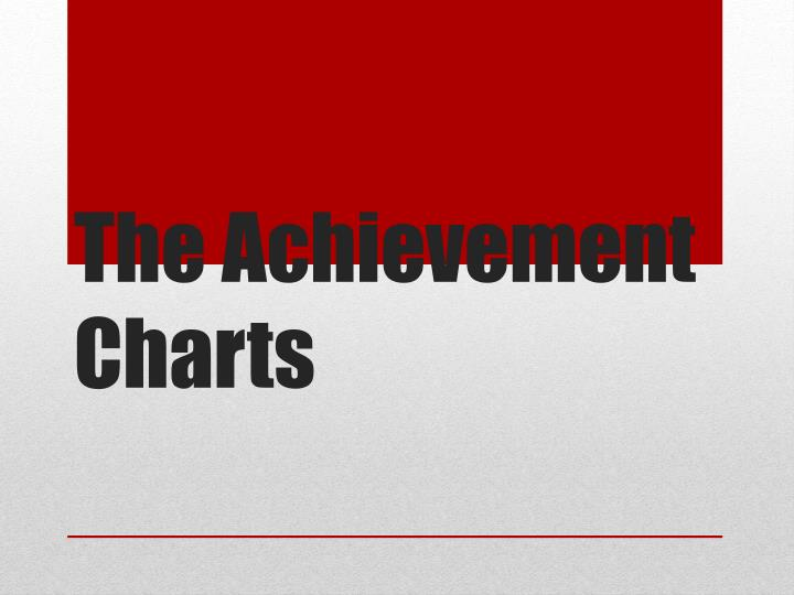 the achievement charts n.