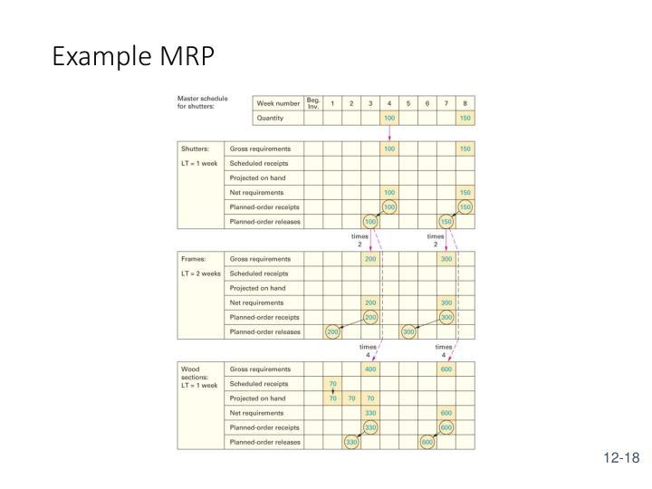Example MRP