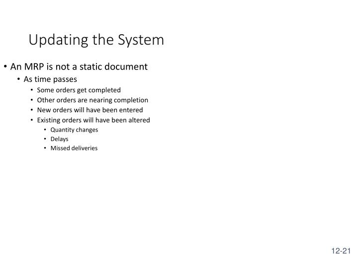 Updating the System