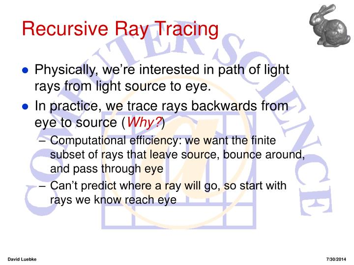 Recursive Ray Tracing