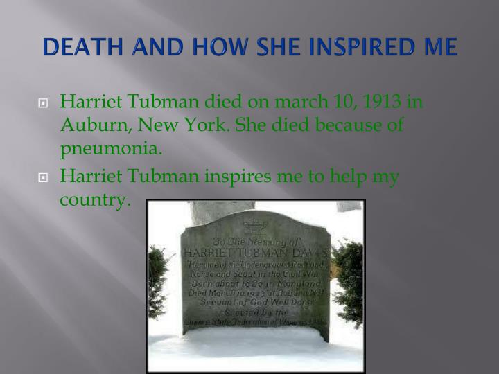 DEATH AND HOW SHE INSPIRED ME