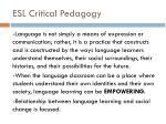 esl critical pedagogy